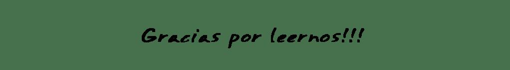 GRACIAS POR LEERNOS