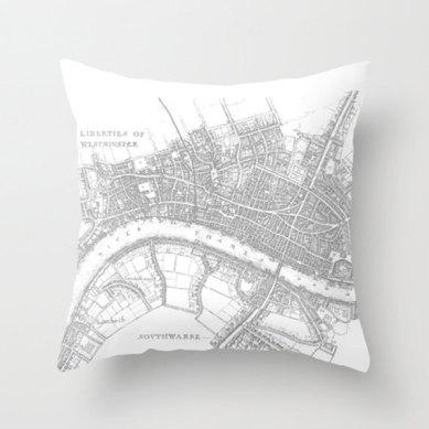 Cojín mapa de Londres